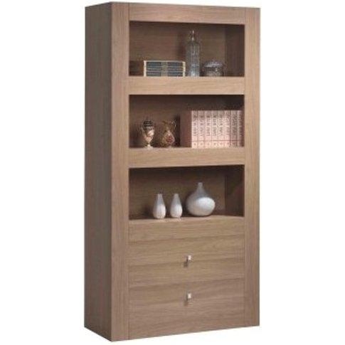 Moda Wood Display Cabinet - 3 Shelf And 2 Drawer - N...