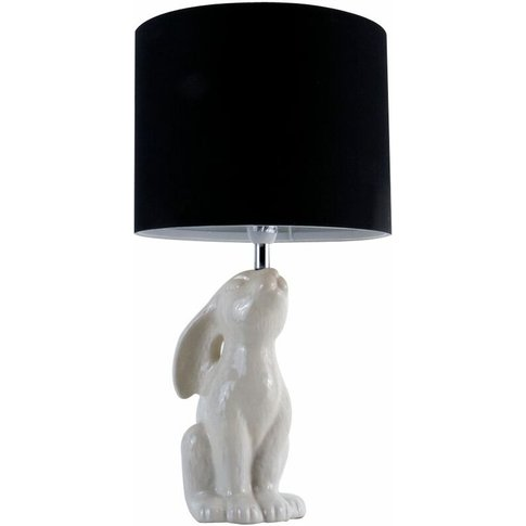 Ceramic Rabbit Table Lamp - Black - Minisun