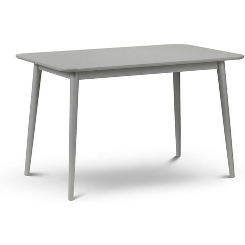 Modern Torino Grey Finish Dining Table With Slanted ...