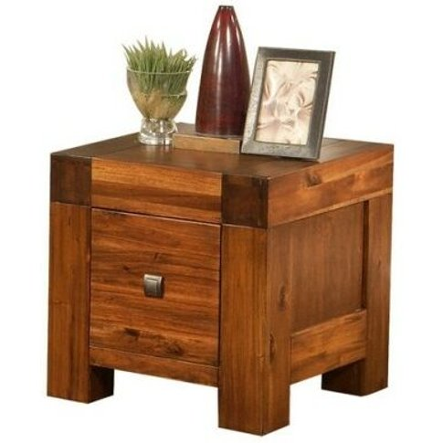 Mona Accacia Solid Wood Lamp Table Fully Assembled -...
