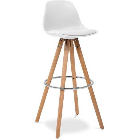 Muriel Scandinavian Design Bar Stool With Cushion - ...
