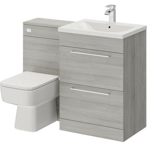 Napoli Molina Ash 1100mm 2 Drawer Vanity Unit Toilet...