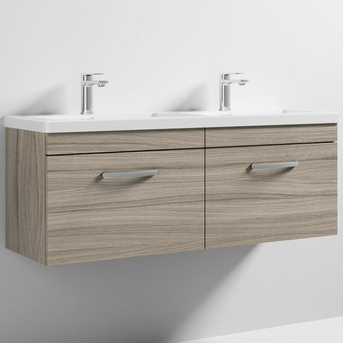 Nuie Athena Wall Hung 2-Drawer Vanity Unit With Doub...
