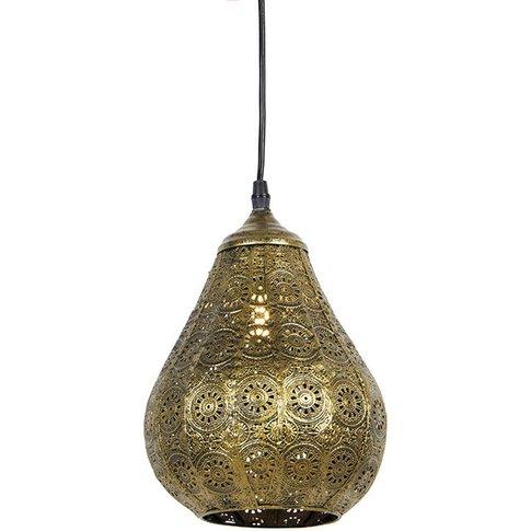Oriental Pendant Lamp Gold - Billa Dia - Qazqa