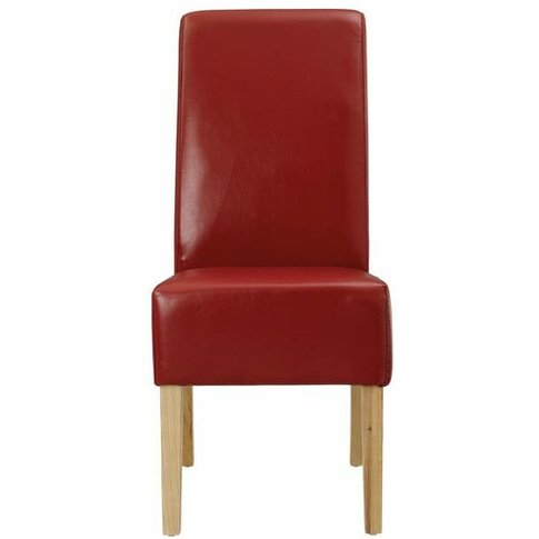 Padistow Dining Chair - Faux Leather Red - Netfurniture