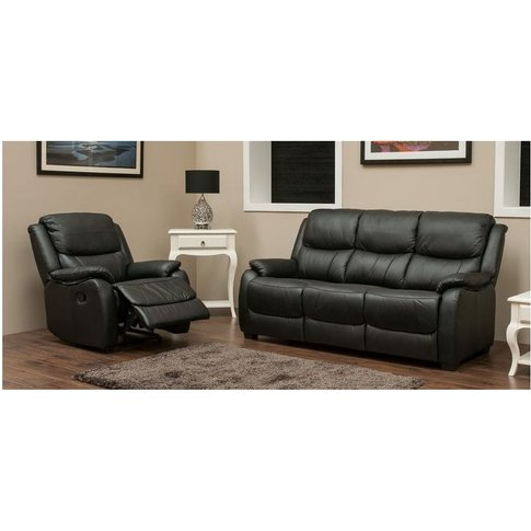Parker 3+1 Leather Sofa Suite Available In Black - D...