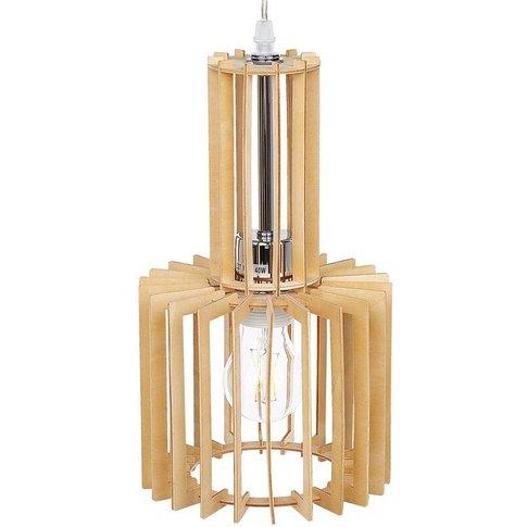 Pendant Lamp Light Wood Niari - Beliani