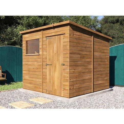 Pent Roof Pressure Treated Wooden Garden Storage Bui...
