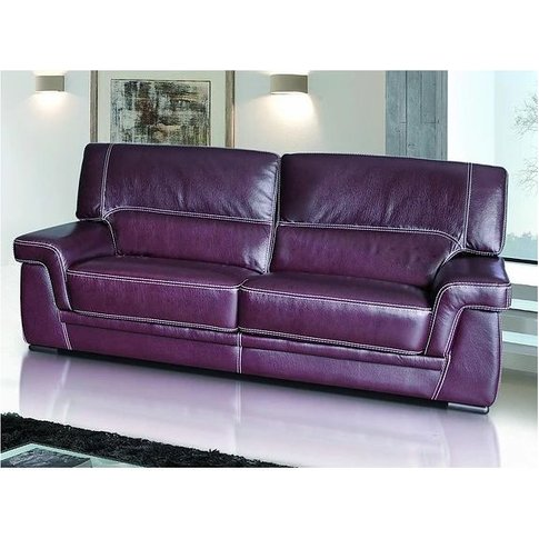 Perugia 2 Seater Contemporary Italian Leather Sofa B...