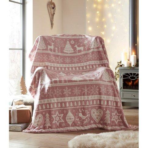 Portfolio Festive Nordic Scandi Blush Pink Sherpa Fl...