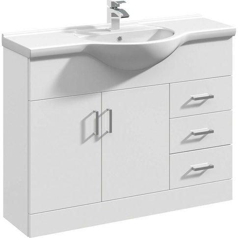 Mayford 1060mm Floor Standing Vanity Unit & Basin - ...