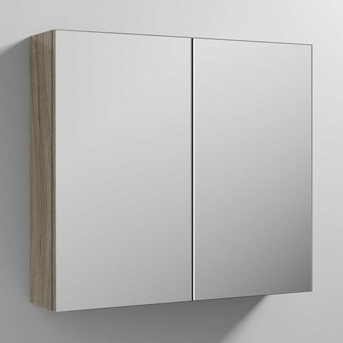 Athena Mirrored Cabinet (50/50) 800mm Wide - Driftwo...