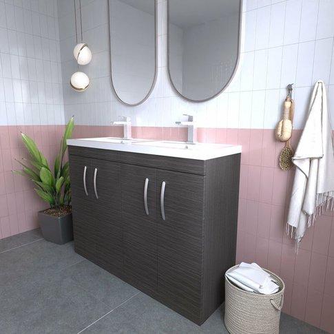 Athena Floor Standing 4-Door Vanity Unit With Double...