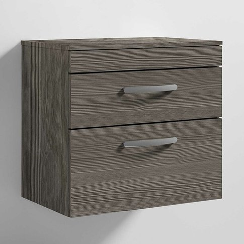 Nuie Athena Wall Hung 2-Drawer Vanity Unit And Workt...