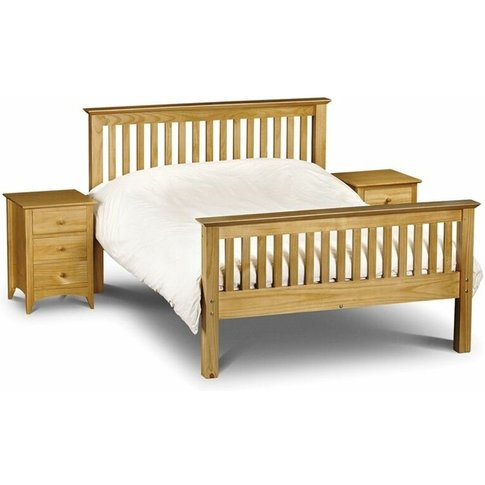 Ashfield Pine Beds - Premium Pine Finish Shaker Style High Foot End Bed - King Size 5ft (150cm) - Best Seller