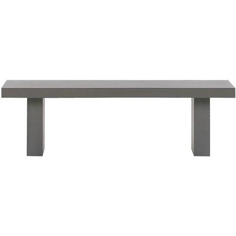 Raw Concrete Outdoor Bench 150 X 40 Cm Grey Taranto - Beliani