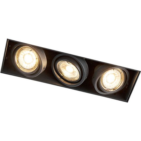 Recessed Spotlight Black Trimless - Oneonâ 3 - Qazqa