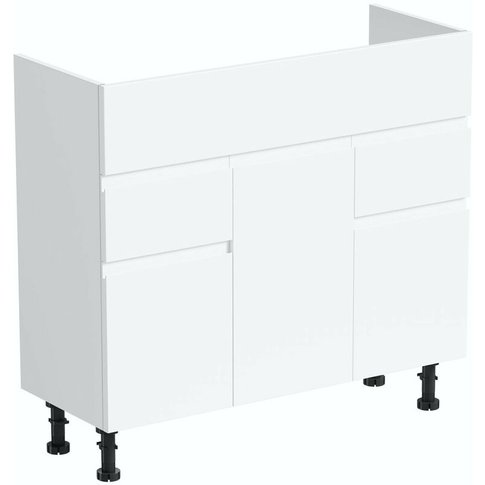 Wharfe White Floorstanding Vanity Unit 850mm - Reeves
