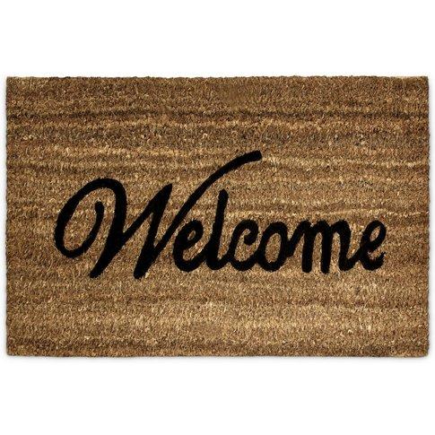 Coconut Fiber Coir 'Welcome' Doormat 40 X 60 Cm Mat ...