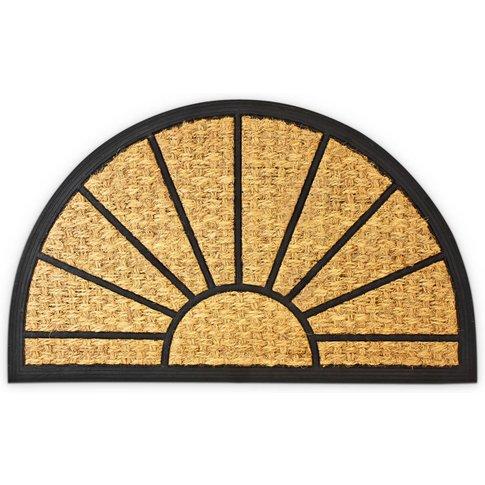 Coir Semi-Circular Doormat 75 X 45 Cm W/ Anti-Slip P...