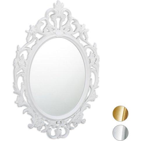 Oval Baroque Hanging Mirror, Original Antique Design...