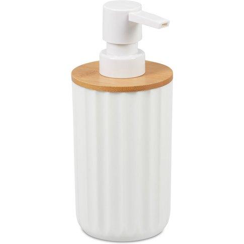 Round Soap Dispenser, Modern, Refillable, Pump, Bamb...