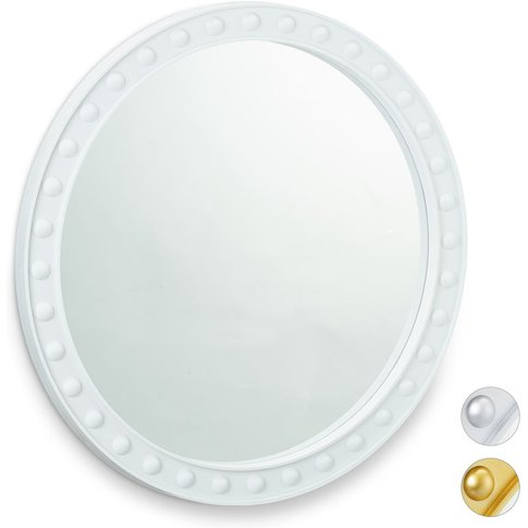 Relaxdays Round Wall Mirror, Hanging Mirror For Hall...