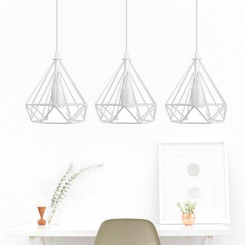 Retro Industrial Pendant Lamp 3 Lamp Holders Ceiling...