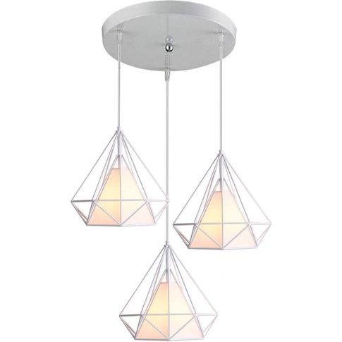 Retro Pendant Light 3 Lamp Holders Chandelier,Vintag...