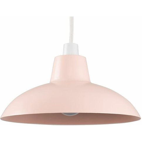 Pink Metal Easy Fit Ceiling Pendant Light Shade 10w ...