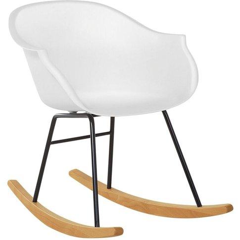 Rocking Chair White Harmony - Beliani