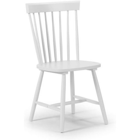 Rufford Solid Wood White & Faux Suede Dining Chair -...