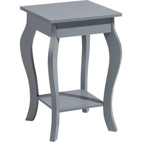 Side Table Grey Avon - Beliani
