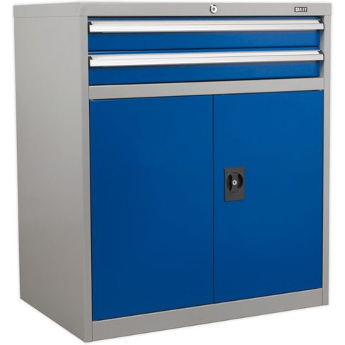 Api8810 Industrial Cabinet 2 Drawer & 1 Shelf Double...