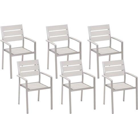 Set Of 6 Dining Chairs White Vernio - Beliani