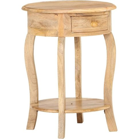 Side Table 37x37x61 Cm Solid Mango Wood - Vidaxl