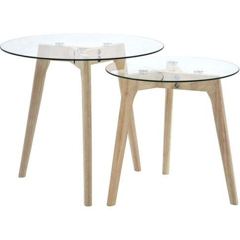 Vidaxl - Side Table Set 2 Pcs Tempered Glass