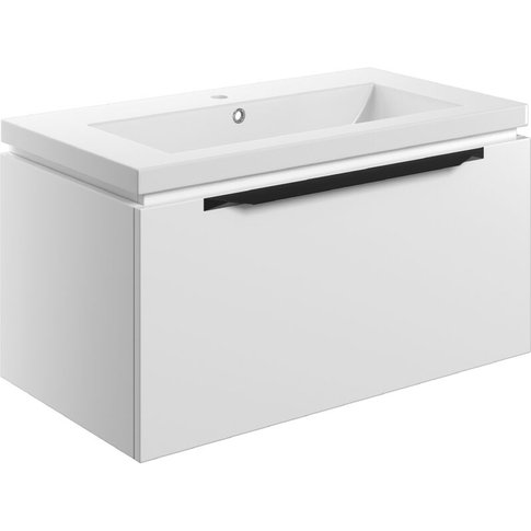 Wall Hung 1-Drawer Vanity Unit With Basin 815mm Wide...