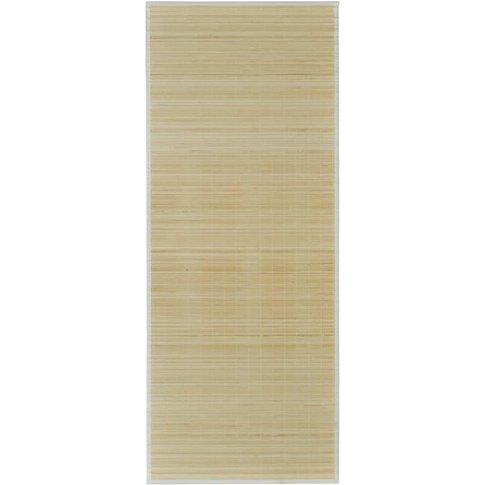 Rectangular Bamboo Rug 80 X 200 Cm Natural - Vidaxl