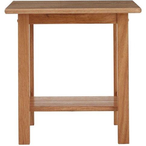 Square Side Table,Tropical Hevea Wood,Natural - Big ...