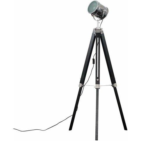 Starboard Spotlight Tripod Floor Lamp - Black - Minisun