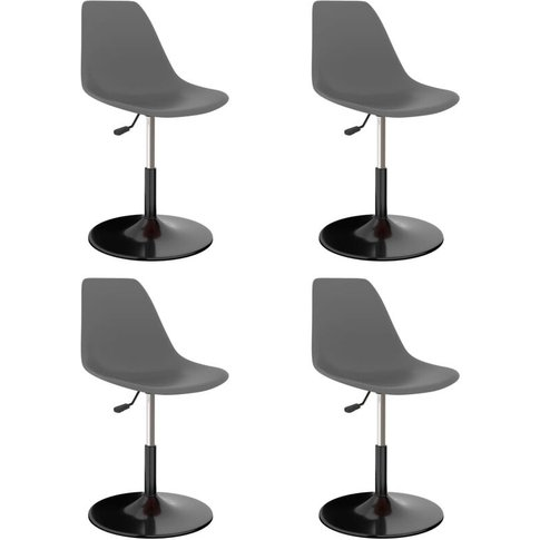 Swivel Dining Chairs 4 Pcs Light Grey Pp - Youthup