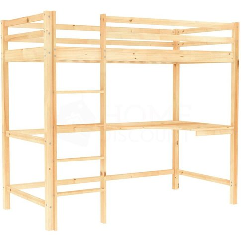 Sydney Bunk Bed With Desk, Pine - Home Discount