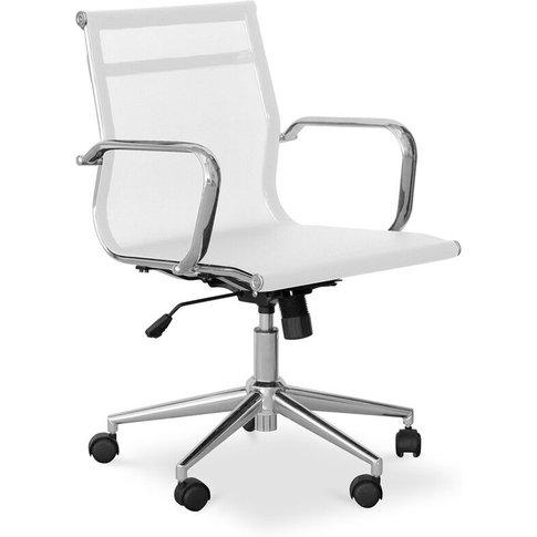 Privatefloor - T17 Office Chair - Mesh & Metal - Whe...