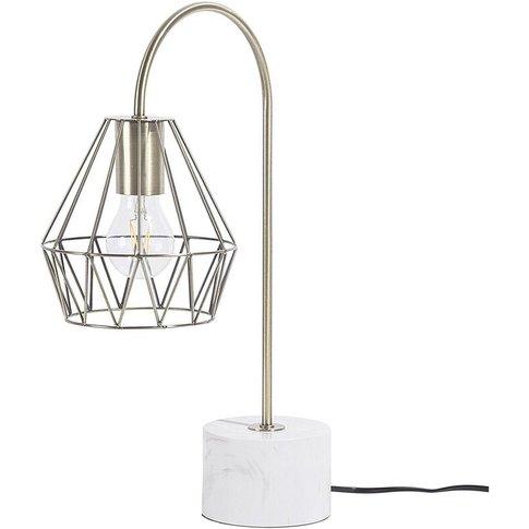 Metal Table Lamp Brass Mooni - Beliani