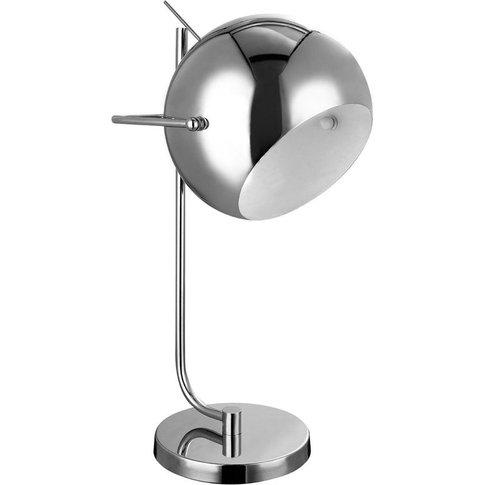 Big Living - Table Lamp,Chrome/White Inside