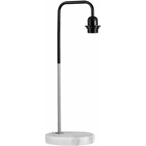 Metal Black Table Lamp With Solid White Marble Base ...