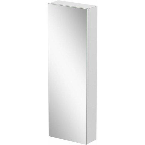 Tall Single Door Bathroom Mirror Cabinet Cupboard Stainless Steel Wall Mounted - Artis