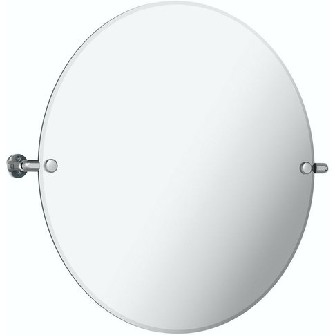 Traditional Round Pivot Bathroom Mirror 500 X 500mm ...