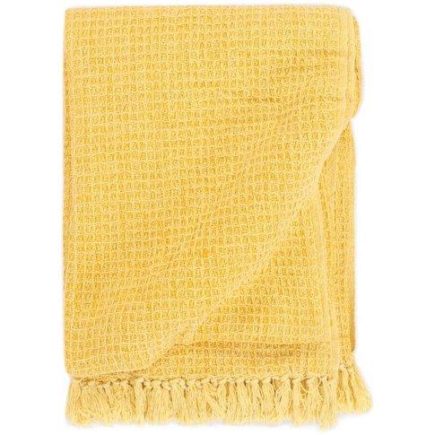 Throw Cotton 160x210 Cm Mustard Yellow - Vidaxl